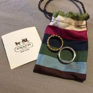 Coach stackable rings size 7